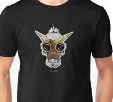 Horned Goggle Skull Unisex T-Shirt