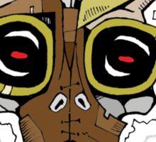Horned Goggle Skull Sticker