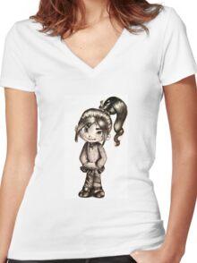 Vanellope Von Sweetz Women's Fitted V-Neck T-Shirt