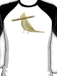 Cockatiel & Pencil T-Shirt
