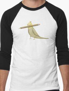 Cockatiel & Pencil Men's Baseball ¾ T-Shirt