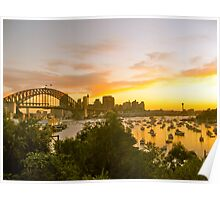 Harbour Bridge at Sunset Poster