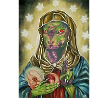 Blessed Reptilian Virgin and Child Photographic Print