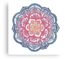 Radiant Medallion Doodle Canvas Print