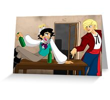 Grantaire, put that bottle DOWN! Greeting Card