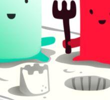 Lets be friends Sticker