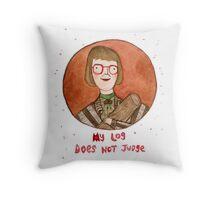 Log Lady Throw Pillow