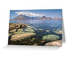 The Cuillins from Elgol Greeting Card