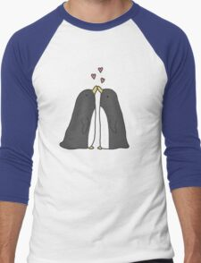 Lovely Love Penguins Men's Baseball ¾ T-Shirt