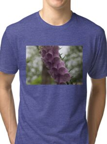 Foxglove Tears - A Rainy Garden in London Tri-blend T-Shirt