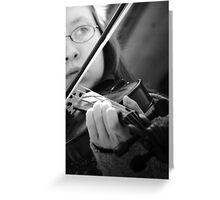 Rest Stop Violinist Greeting Card