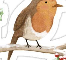 Robin on Branch Sticker