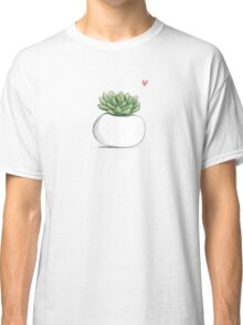 Succulent in Plump White Planter Classic T-Shirt