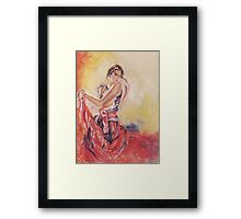 when you taught me how to dance.. Framed Print