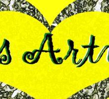 My Heart is Arty Sticker