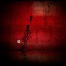 Moon over lake... by Julian Escardo
