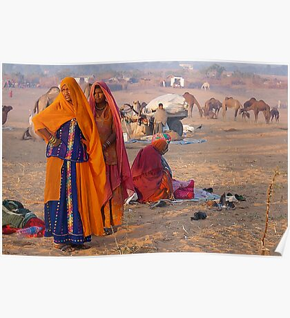 The Village Life-Rajasthan Poster