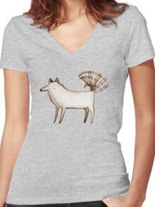 """I'm So Happy"" - Dog Women's Fitted V-Neck T-Shirt"