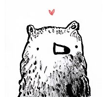 Bear Love Photographic Print