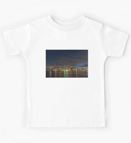 Toronto's Dazzling Skyline Across the Lake Kids Tee