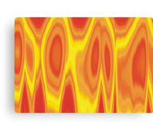 Orange Flames Design Canvas Print
