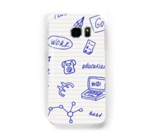 Collection of business, doodle sketch objects and elements.  Samsung Galaxy Case/Skin