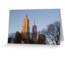 New York Skyline Through the Trees Greeting Card