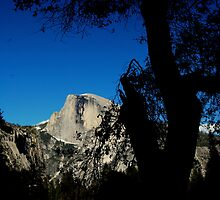 Half Dome In The Shadows by davesdigis