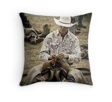 Helmville Rodeo Montana 2009 -  #120 Throw Pillow