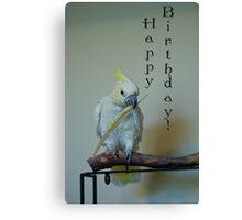 Birthday Bird Canvas Print