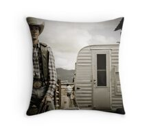 Helmville Rodeo Montana 2009 -  #128 Throw Pillow