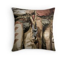 Helmville Rodeo Montana 2009 -  #133 Throw Pillow