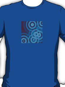 Blue Circles Pattern T-Shirt