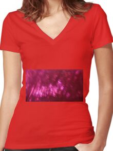 Back to the vivid forest n°8 Women's Fitted V-Neck T-Shirt