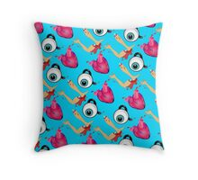 Eye Heart U Throw Pillow