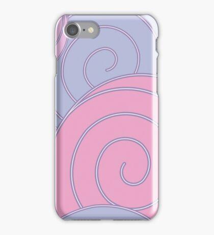 Spiral, pastel background iPhone Case/Skin
