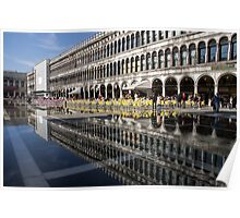 Venice, Italy - St Mark's Square Symmetry Poster