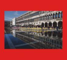 Venice, Italy - St Mark's Square Symmetry One Piece - Long Sleeve