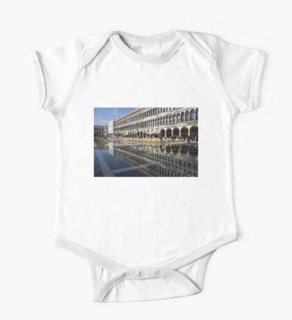 Venice, Italy - St Mark's Square Symmetry One Piece - Short Sleeve
