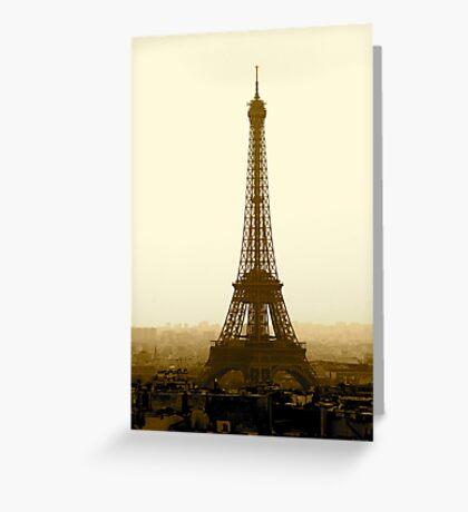 Eiffel in Sepia Greeting Card