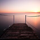 Good Morning - Jetty at Pernera, Cyprus by Nick Tsiatinis