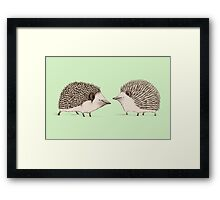 Two Hedgehogs Framed Print