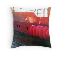Red Bubbles! Throw Pillow