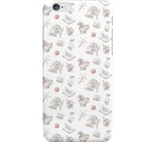 "Fairy Tale ""Sprookje"" Pattern: Sienna and Red iPhone Case/Skin"