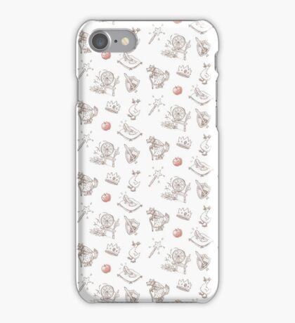 """Fairy Tale """"Sprookje"""" Pattern: Sienna and Red iPhone Case/Skin"""