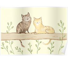 Cats on the Fence Poster