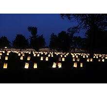 Memorial Day luminaria Photographic Print
