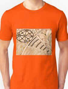 Gold Zentangle Unisex T-Shirt