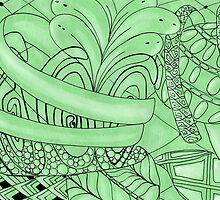 Zentangle plant by Annalisa Amato