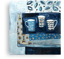 cups in conversation Canvas Print